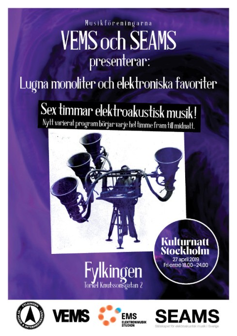Elsvets Kulturnatt Stockholm 2019 Affisch
